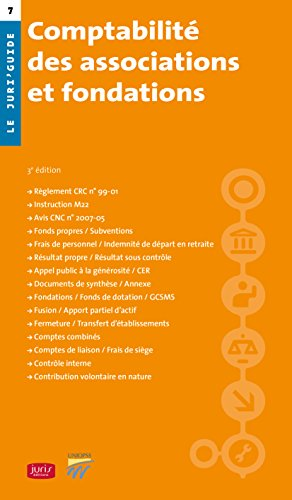 Comptabilité des associations et fondations - 3e ed.