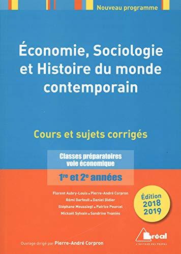 Economie, sociologie, histoire du monde contemporain 2018-2019