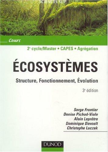 Ecosystèmes : Structure - Fonctionnement - Évolution : Cours et questions de révision