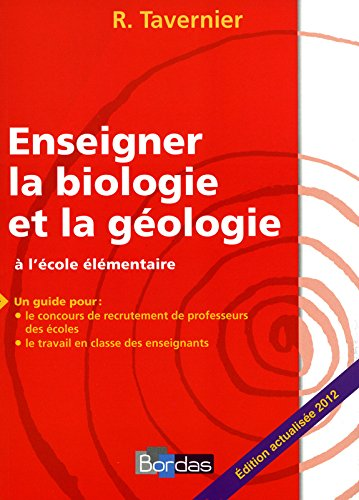 Enseigner la biologie et la géologie à l'école élémentaire