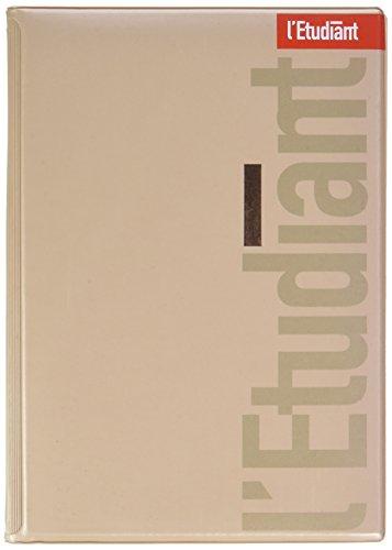 L'Etudiant 100735802 Agenda 2018-2019 1 Jour par page 15 x 20 cm Argent Métal