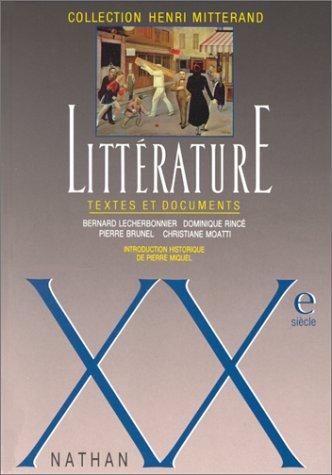 Littérature : XXe siècle