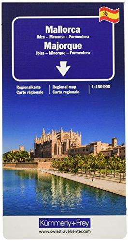 Majorque, Ibiza, Minorque, Formentera : 1/150 000