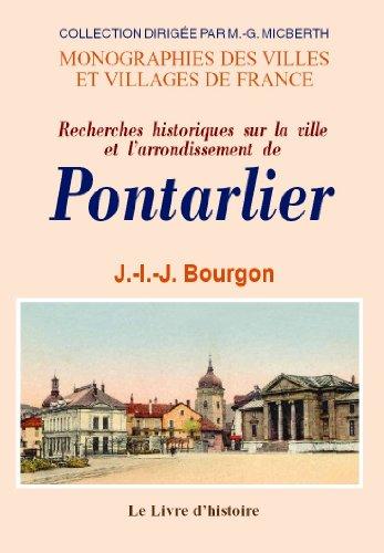 Pontarlier (histoire de)
