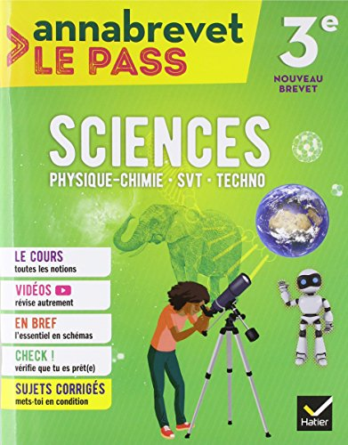 Annabrevet Le Pass - Sciences 3e