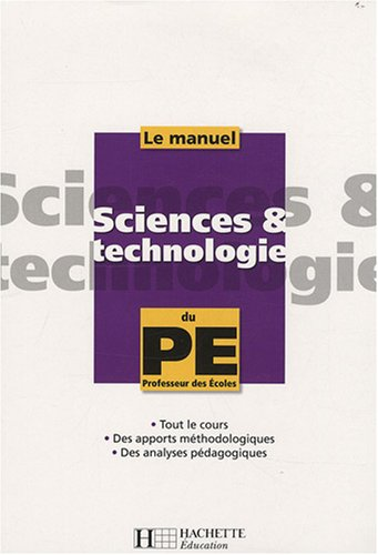 Le manuel de Sciences et technologie du PE