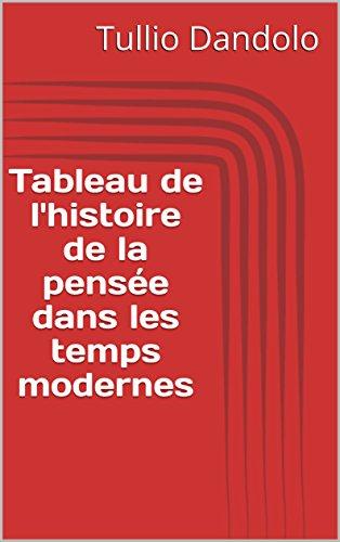 Tableau de l'histoire de la pensée dans les temps modernes