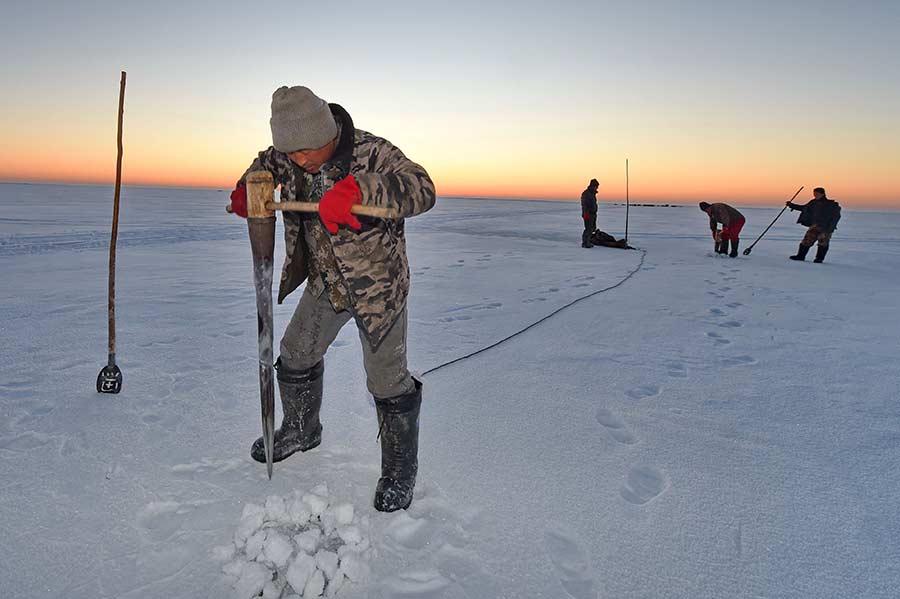 Documentaire Chine, les pécheurs de glace du lac Chagan