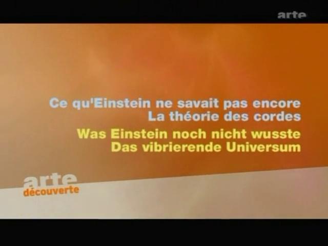 Documentaire L'univers élégant – Episode 2 – Théorie des cordes