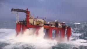 Documentaire Plateforme petroliere en pleine tempete