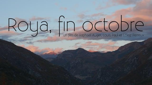 Documentaire Roya, fin octobre
