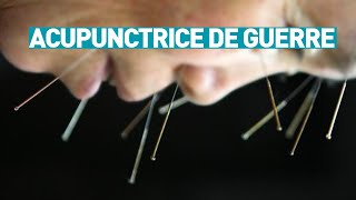 Acupuntrice au front