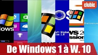 De Windows 1 à Windows 10 : 30 ans d'évolutions