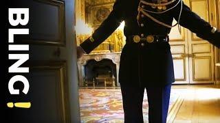 Au palais de l'Elysée avec le chef cuisinier du président de la république
